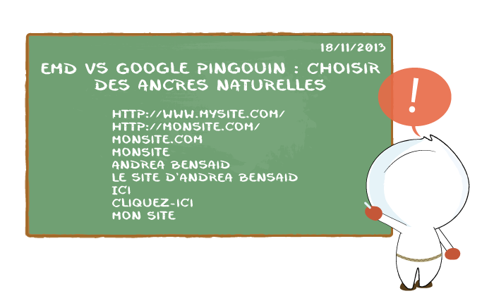 EMD Vs Google Pingouin - Chosir des ancres naturelles